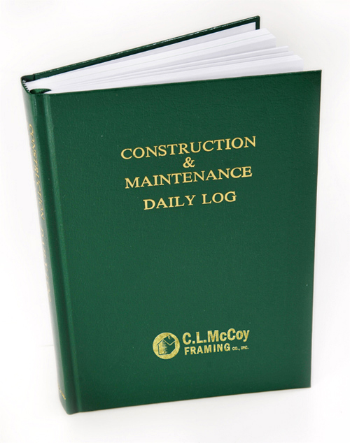 C.L. McCoy Framing Custom Imprinted Logbook