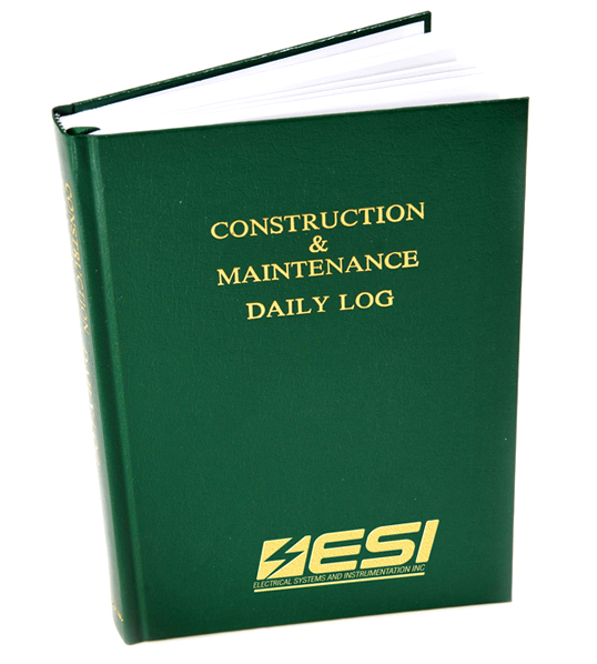 Electrical Systems and Instrumentation Custom Imprinted Logbook
