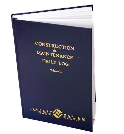 Early Marine Commercial Contractor Custom Imprinted Logbook