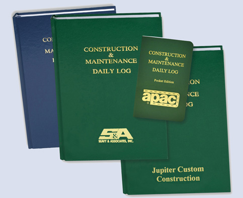 Custom Imprinted Logbooks from Safety Meeting Outlines, Inc.
