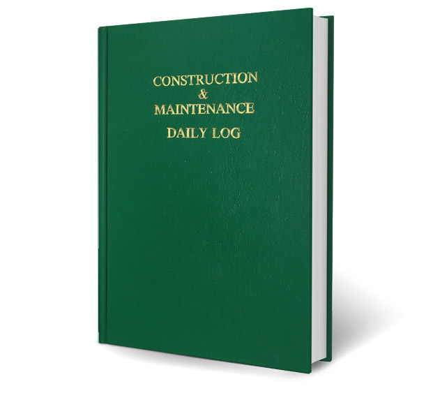 Green Standard Edition Log Book - Construction & Maintenance Daily Log Books