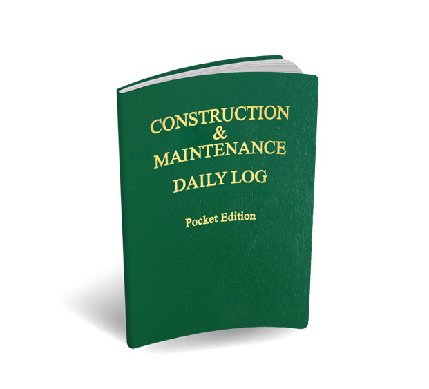 Pocket Edition Log Book - Construction & Maintenance Daily Log Books