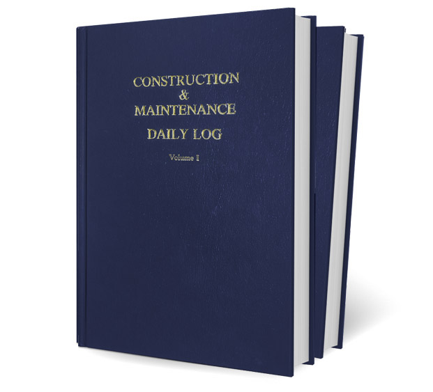 Blue Expanded Edition Log Book - Construction & Maintenance Daily Log Books