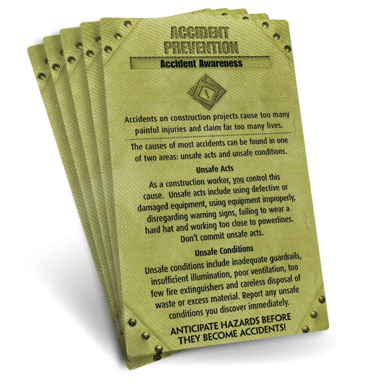 S.A.F.E. Cards - Accident Prevention