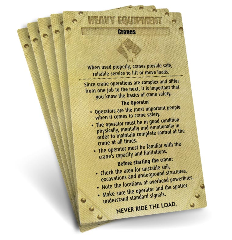 S.A.F.E. Cards - Heavy Equipment