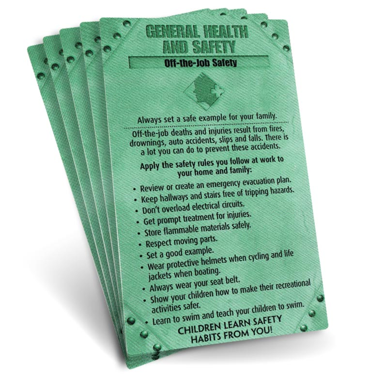 S.A.F.E. Cards - General Health & Safety