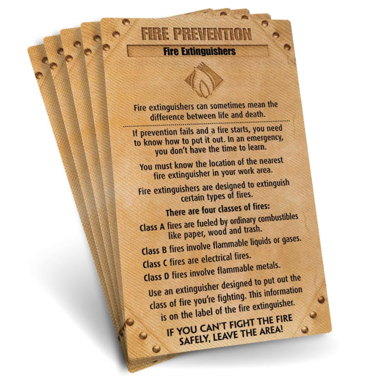 S.A.F.E. Cards - Fire Prevention