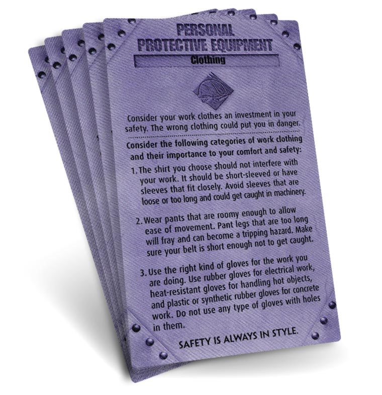S.A.F.E. Cards - Personal Protective Equipment